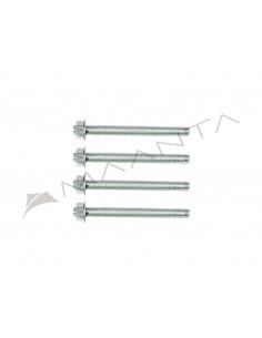 Set 4 Gewindestangen aus verzinktem Stahl M12 Länge 13cm