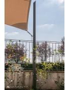 Mast für Sonnensegel, höhenverstellbar aus Aluminium