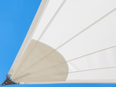Solaria Professionelles Sonnensegl mit Radialschnitt