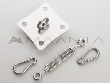 Kit Befestigung Rostfreier Stahl Für Sonnensegel