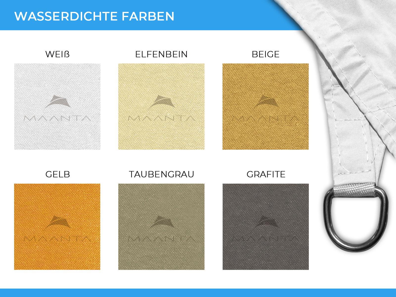 Easyshade Sonnensegel: wasserdichte Farbvarianten
