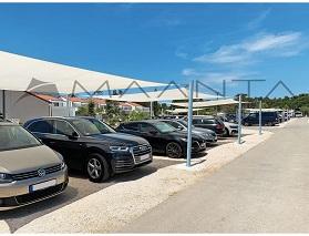 Sonnensegel Carport für Parkplätze